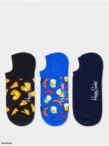 3PACK Ponožky Happy Socks Junk Food pánské modrá 43-46