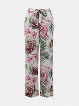 Bílé květované kalhoty Only dámské bílá XL