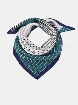 Bílo-zelený vzorovaný šátek Clayre & Eef dámské zelená