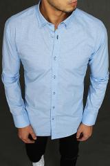 Blue mens shirt with patterns DX1963 pánské Neurčeno XXL