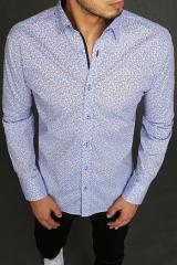 Blue mens shirt with patterns DX1971 pánské Neurčeno M
