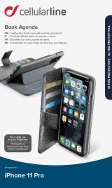 CellularLine Book Agenda flipové pouzdro pro Apple iPhone 11 Pro, černá