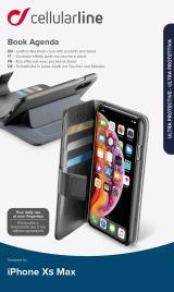CellularLine Book Agenda flipové pouzdro pro Apple iPhone XS Max, černá