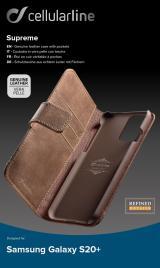 Cellularline Supreme flipové pouzdro pro Samsung Galaxy S20 , hnědé