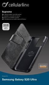 Cellularline Supreme flipové pouzdro pro Samsung Galaxy S20 Ultra, černé