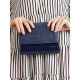 Clutch bag with a detachable strap, navy blue dámské Neurčeno One size