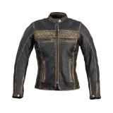 Dámská Kožená Moto Bunda W-Tec Kusniqua  S  Vintage Hnědá S