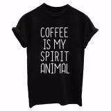 Dámské tričko pro milovnice kávy - 3 barvy Barva: černá, Velikost: XXL