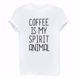 Dámské tričko pro milovnice kávy - 3 barvy Barva: šedá, Velikost: M