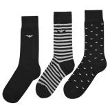 Emporio Armani 3 Pack Socks pánské Other One size