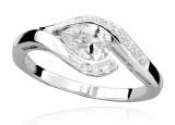 JVD Stříbrný prsten se zirkony SVLR0010SH8BI 54 mm dámské