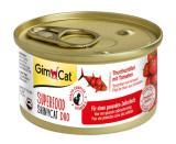 Konzerva ShinyCat duo superfood tuňák s rajčaty 70g