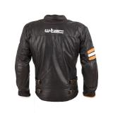 Kožená Moto Bunda W-Tec Brenerro  Black-Orange-White  4Xl 4XL