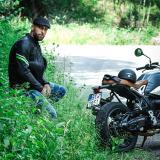 Kožená Moto Bunda W-Tec Montegi  6Xl  Matně Černá 6XL