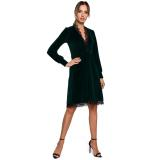 Made Of Emotion Womans Dress M563 dámské Green S