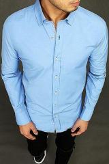Mens blue elegance shirt DX1996 pánské Neurčeno L