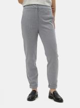 Modré vzorované kalhoty s vysokým pasem VERO MODA Toni dámské modrá S