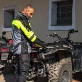 Moto Bunda W-Tec Astair  Černo-Šedo-Zelená  3Xl 3XL