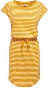 ONLY Dámské šaty ONLMAY 15153021 Mango Mojito THIN STRIPE CLOUD DANCER XXL dámské