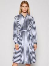 Polo Ralph Lauren Košilové šaty Lsl 211836475001 Barevná Regular Fit dámské Tmavomodrá 10