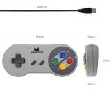 Retro USB herní ovladač ve stylu SNES Nintendo - 2 ks