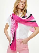Růžový dámský vzorovaný šátek Tommy Hilfiger dámské růžová