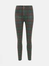 Tmavě zelené dámské kostkované kalhoty Haily´s Felina dámské tmavě zelená S