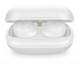 True wireless sluchátka Cellularline PLUME s dobíjecím pouzdrem, AQL® certifikace, bílá