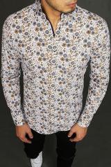 White mens shirt with patterns DX1967 pánské Neurčeno XXL