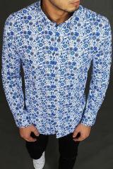 White mens shirt with patterns DX1969 pánské Neurčeno M
