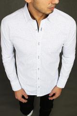 White mens shirt with patterns DX1983 pánské Neurčeno L