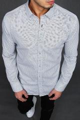 White mens shirt with patterns DX1989 pánské Neurčeno M