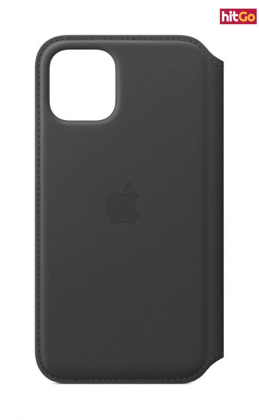 Apple Leather flipové pouzdro MX062ZM/A pro Apple iPhone 11 Pro black