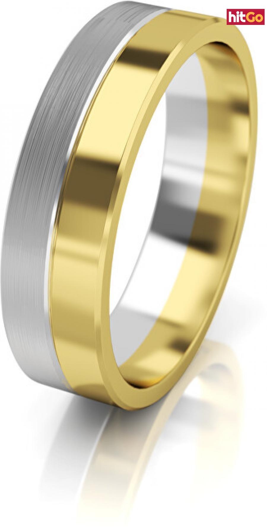 Art Diamond Dámský bicolor snubní prsten ze zlata AUG121 50 mm dámské