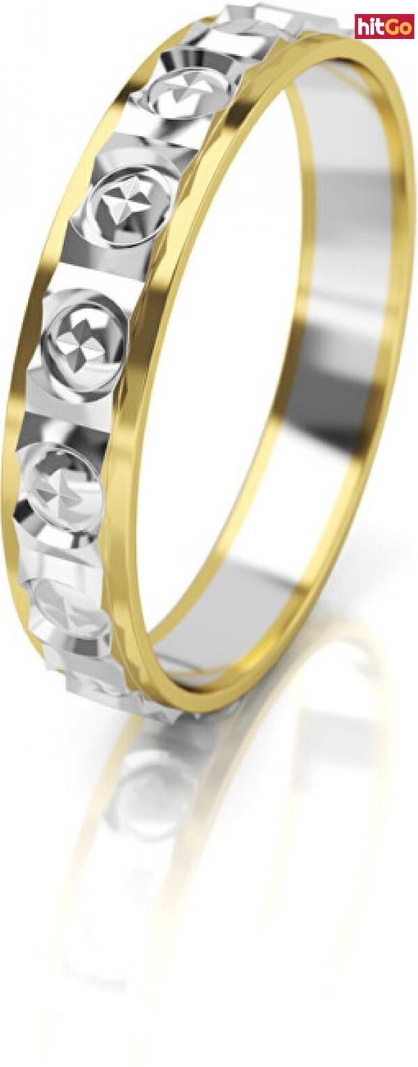 Art Diamond Dámský bicolor snubní prsten ze zlata AUG303 50 mm dámské