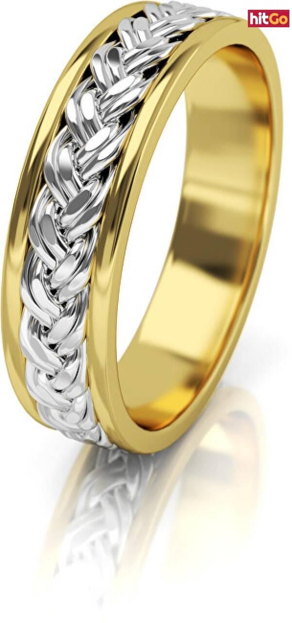 Art Diamond Dámský proplétaný snubní prsten ze zlata AUG008 54 mm dámské