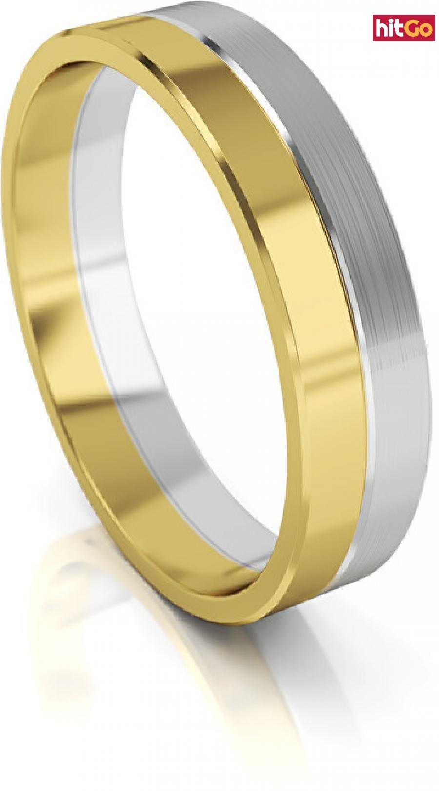 Art Diamond Pánský bicolor snubní prsten ze zlata AUG121 64 mm pánské