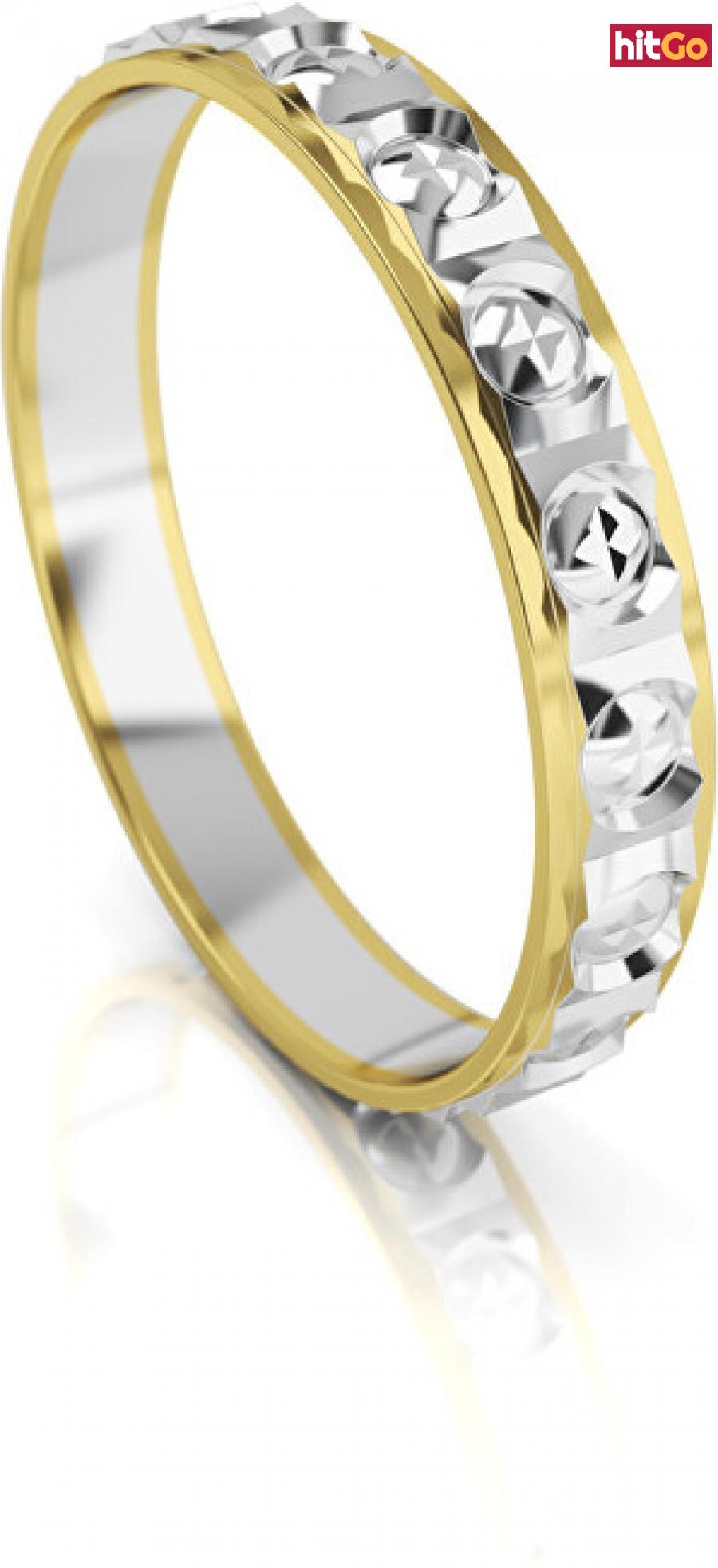 Art Diamond Pánský bicolor snubní prsten ze zlata AUG303 64 mm pánské