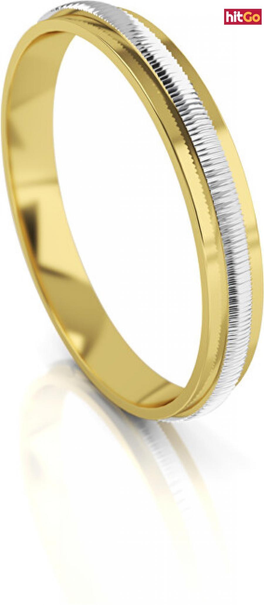 Art Diamond Pánský bicolor snubní prsten ze zlata AUG328 66 mm pánské