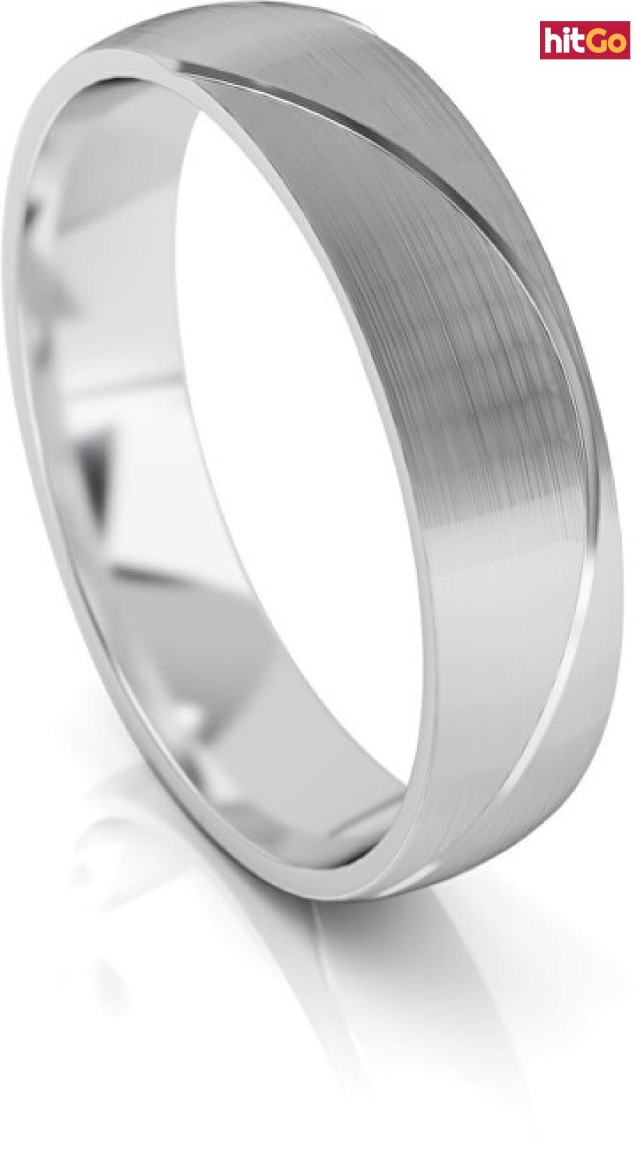 Art Diamond Pánský snubní prsten z bílého zlata AUG284 62 mm pánské