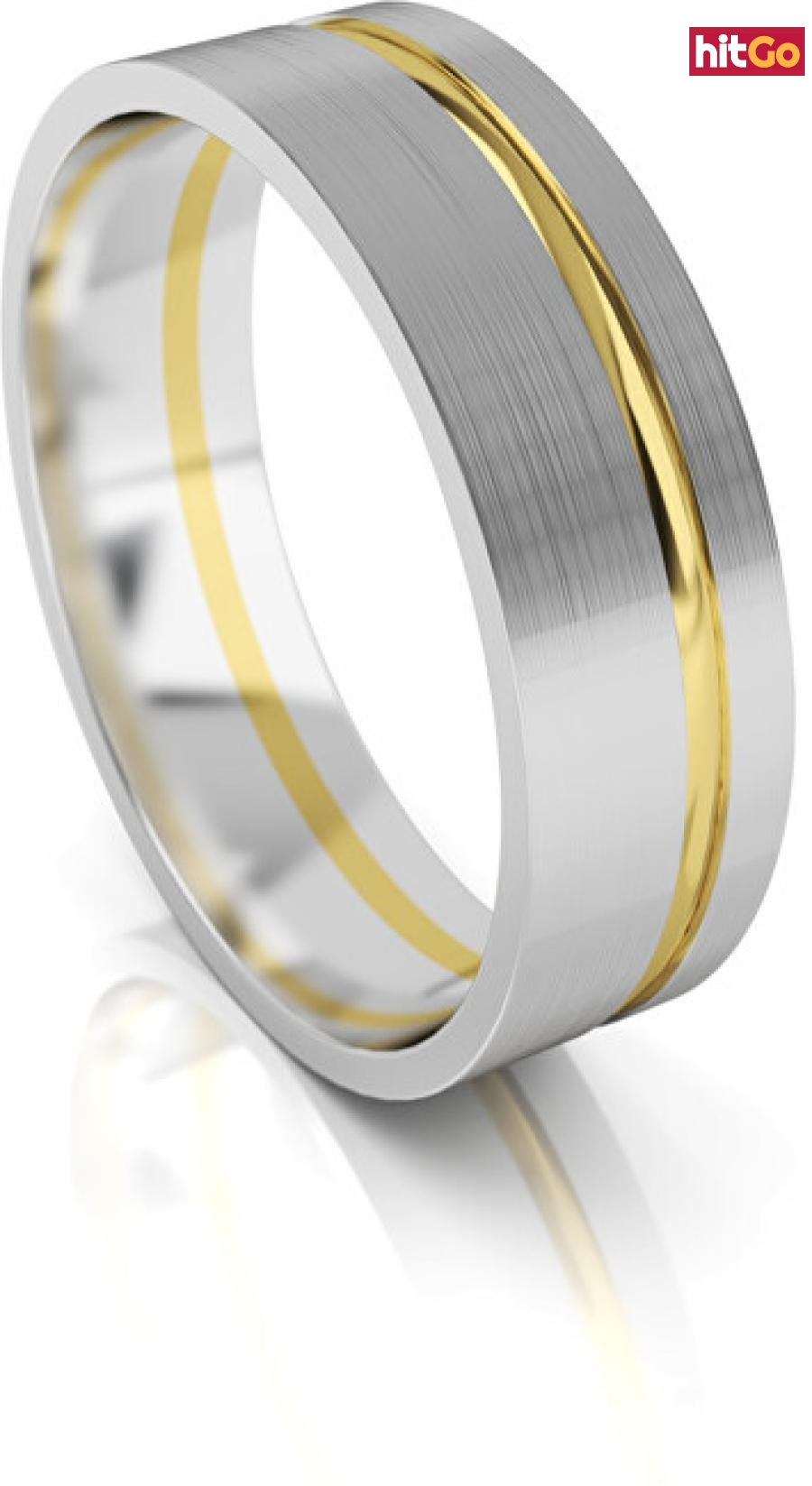 Art Diamond Pánský snubní prsten ze zlata AUG139 64 mm pánské