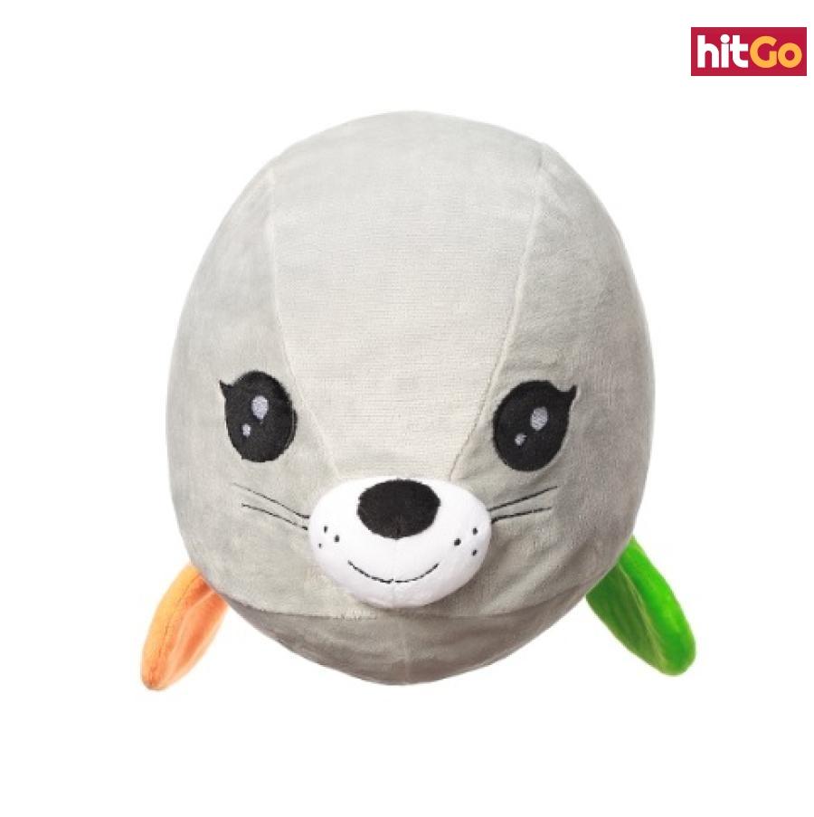 BABYONO Hračka polštářek C-MORE tuleň Lucy 18 x 22 cm bílá