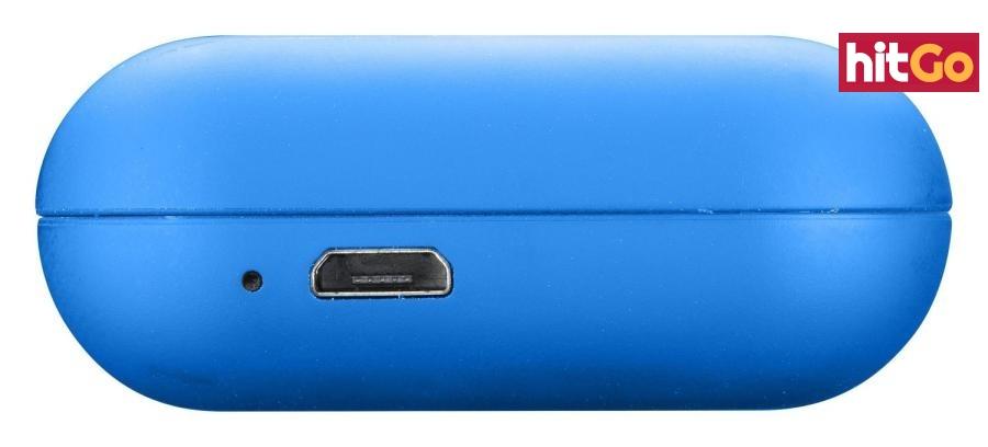 Bezdrátová sluchátka Cellularline Java s dobíjecím pouzdrem modrá