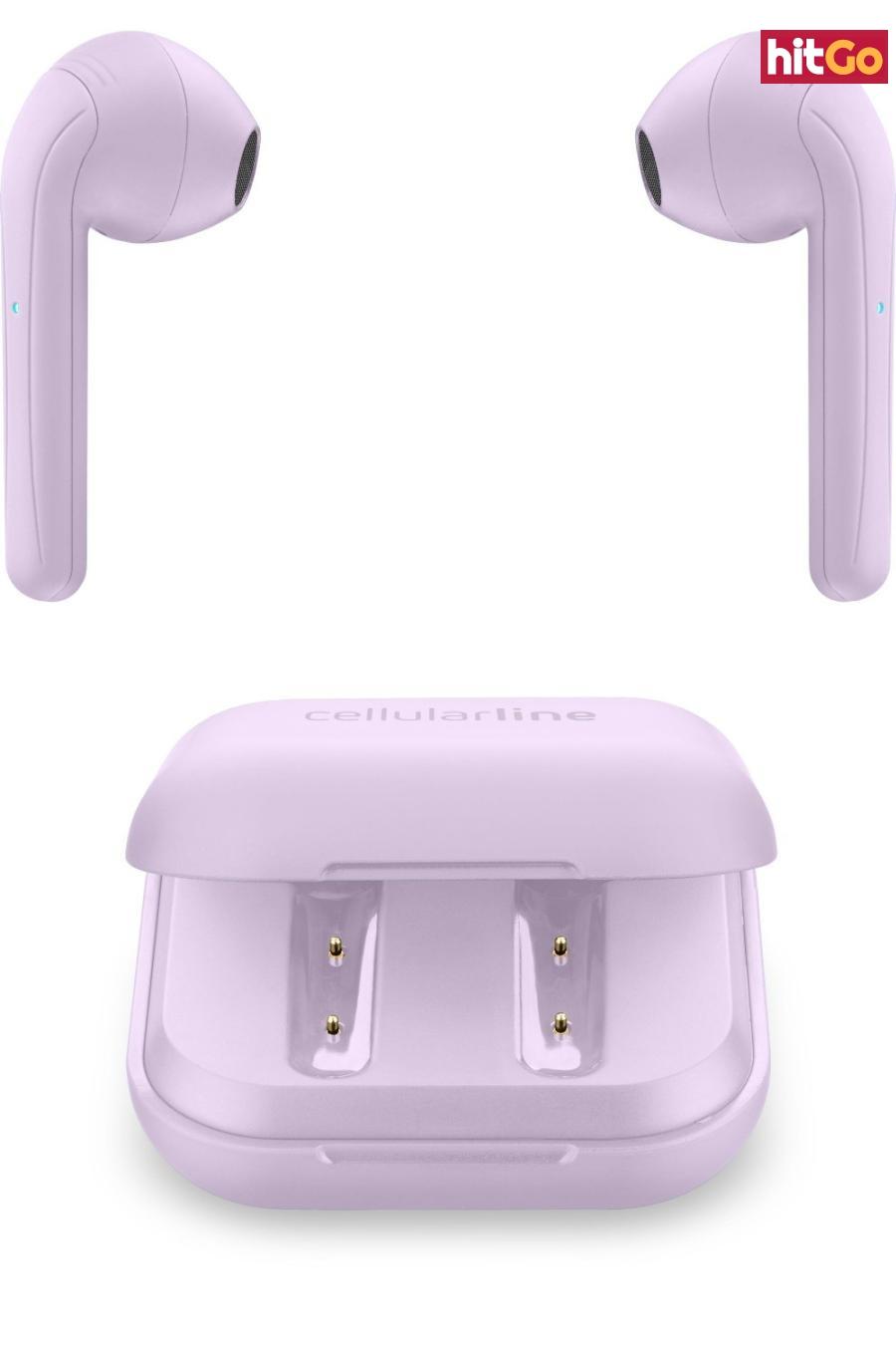 Bezdrátová sluchátka Cellularline Java s dobíjecím pouzdrem růžová