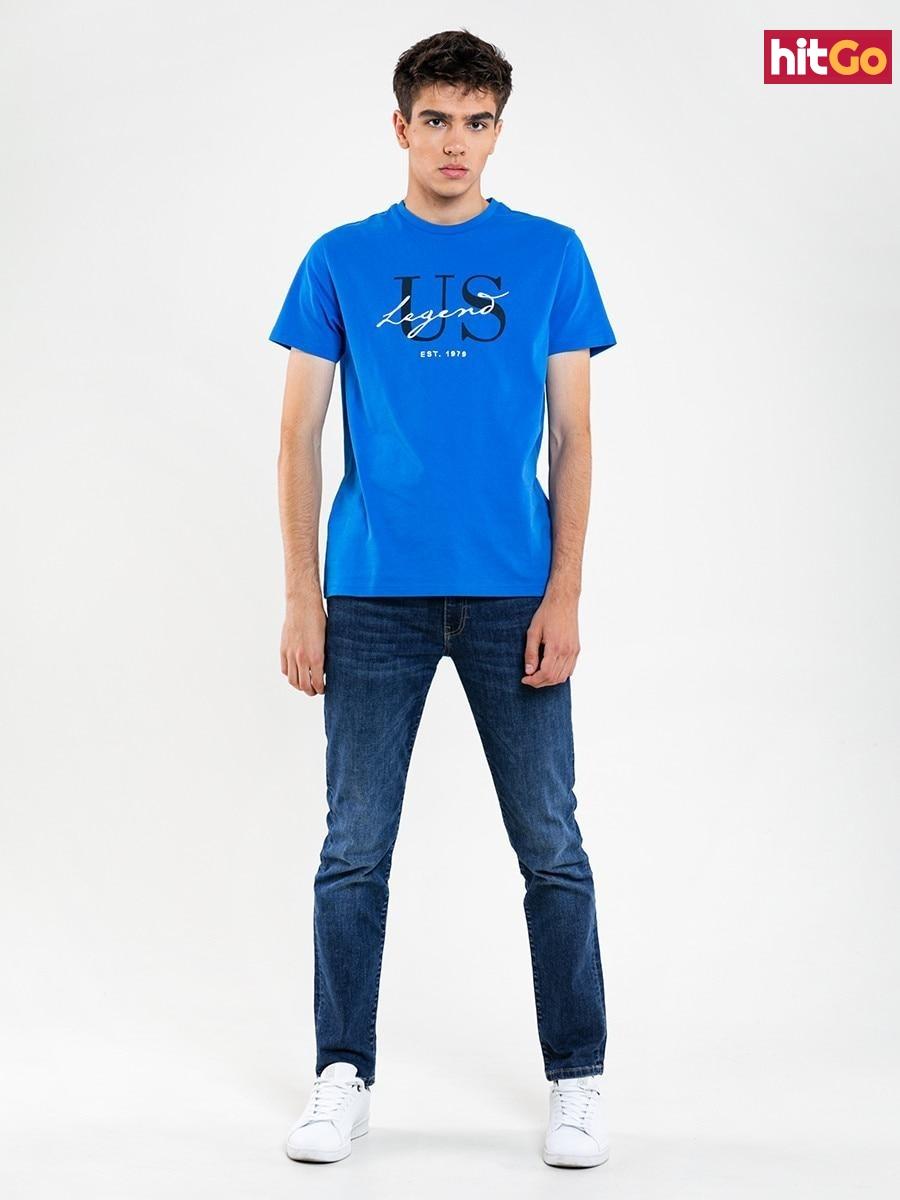 Big Star Mans Shortsleeve T-shirt 154593 -401 pánské Blue XXL