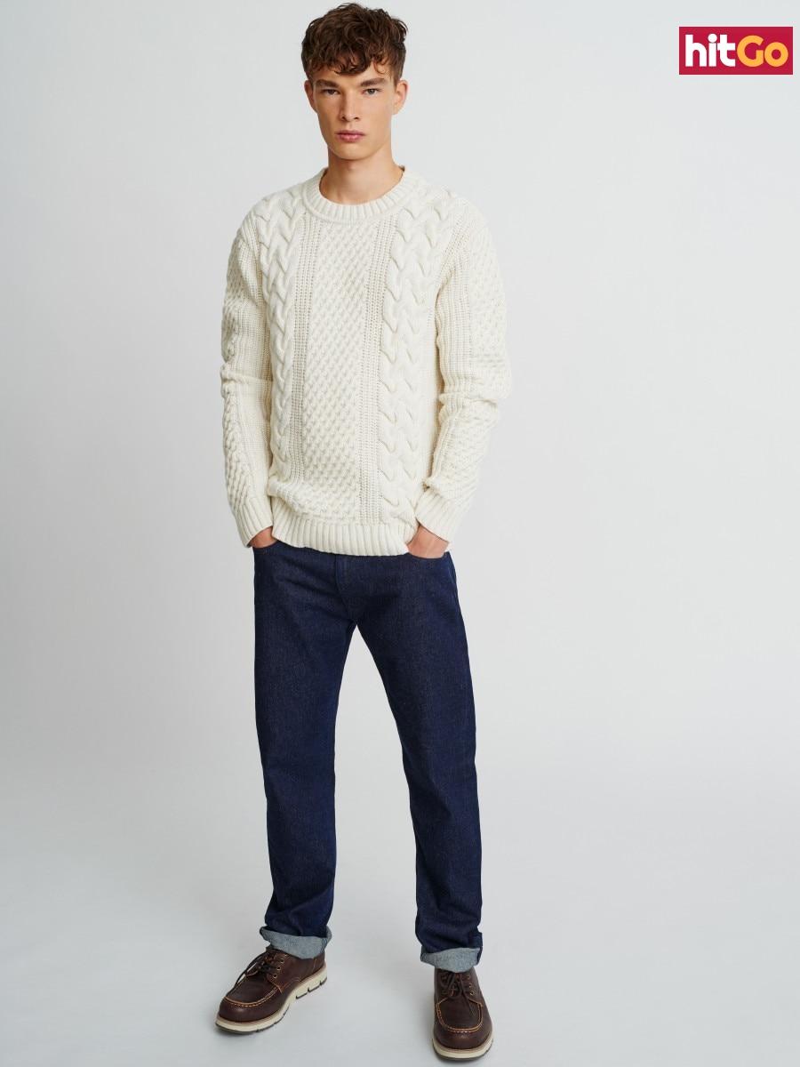 Big Star Mans Sweater 161989 -801 pánské Gold XL