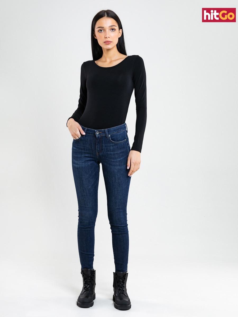 Big Star Womans Longsleeve T-shirt 180001 -906 dámské Black S