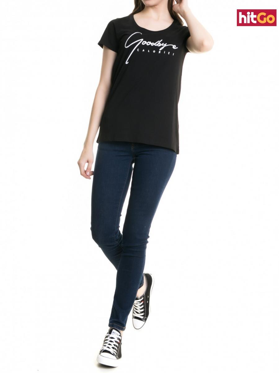 Big Star Womans Shortsleeve T-shirt 158783 -900 dámské Black S