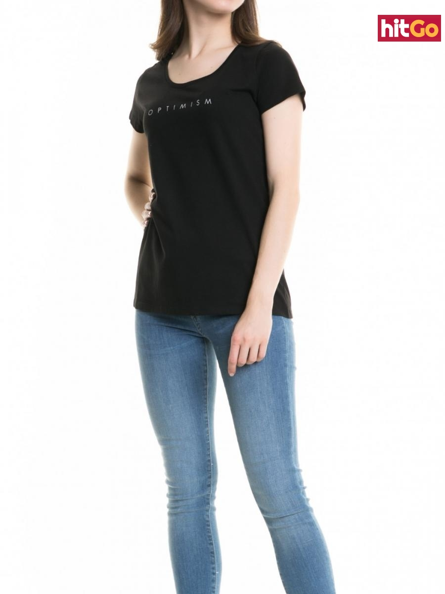 Big Star Womans Shortsleeve T-shirt 158784 -900 dámské Black XXL