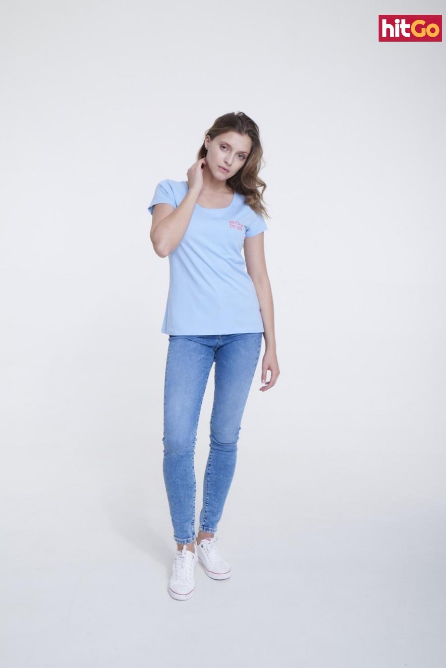 Big Star Womans Shortsleeve T-shirt 158787 -416 dámské Blue XL